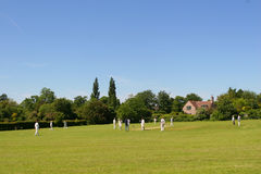 Cricket on The Village Green (with space for text) Stock Photography