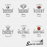 Cricket, volleyball, football, basketball, squash Royalty Free Stock Photography