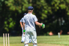 Cricket Wicket Keeper Action Royalty Free Stock Images