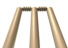 Cricket Wickets Front Isolated Royalty Free Stock Photography