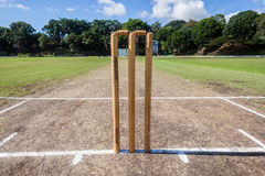 Cricket Wickets Playing Pitch Grounds Royalty Free Stock Photography