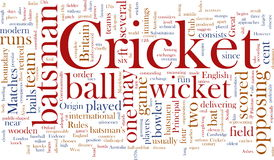 Cricket word cloud Stock Photos