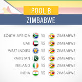 Cricket World Cup 2015 time table. Royalty Free Stock Images