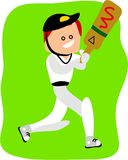 Cricketer stock illustration