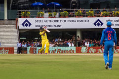 Cricketer Glenn Maxwell Bats. Glenn Maxwell of Australia bats during the cricket match in Ranchi on the 23rd of October royalty free stock photography