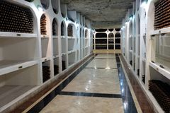 21 08 2016, CRICOVA, bodega subterráneo del MOLDAVIA Fotos de archivo