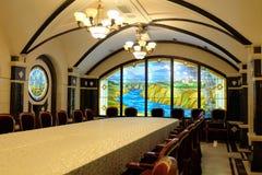 20 08 2016 - CRICOVA, MOLDOVA - sala da amostra do vinho Imagens de Stock Royalty Free