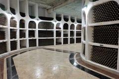 21.08.2016, CRICOVA, MOLDOVA Underground wine cellar Stock Photos