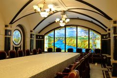 20.08.2016 - CRICOVA, MOLDOVA -Wine sampling room Royalty Free Stock Images
