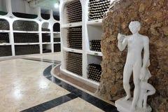 21 08 2016, CRICOVA, Ondergrondse de wijnkelder van MOLDAVIË Stock Afbeeldingen