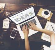 Crie as ideias criativas que pensam o conceito dos pensamentos foto de stock royalty free