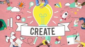Crie o conceito de pensamento do plano da imaginação das ideias Imagens de Stock Royalty Free