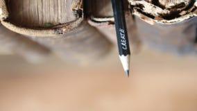 Crie o texto, o lápis e livros velhos video estoque