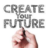 Crie seu futuro Fotografia de Stock
