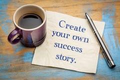 Crie sua própria história de sucesso foto de stock
