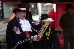 Crier de cidade de Ulverston Foto de Stock Royalty Free