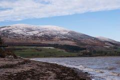 Criffel wzgórze od Carsethorn, zdjęcia royalty free