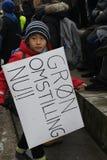 CRIMATE zmiany protesta wiec W KOPENHAGA DANI zdjęcia royalty free