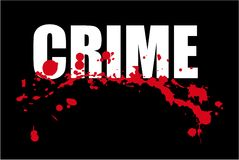 Crime. Headline word crime with blood on it Stock Photos