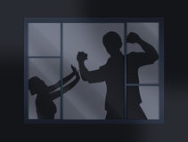 Crime illustration stock