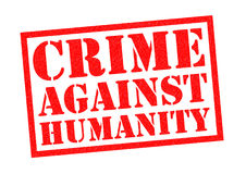 CRIME AGAINST HUMANITY. Red Rubber Stamp over a white background Royalty Free Stock Photography