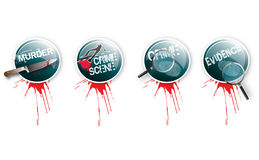 Crime Buttons 2 Stock Photography