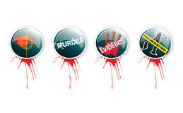 Crime Buttons 3 Royalty Free Stock Photography