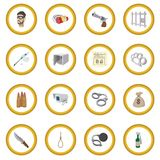 Crime cartoon icon circle Royalty Free Stock Photography