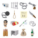 Crime cartoon icons Stock Photos