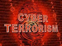 Crime 3d för Cyberterrorismonline-terrorist illustration vektor illustrationer