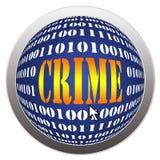Crime d'Internet Photographie stock