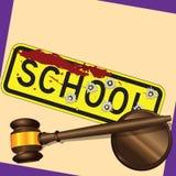Crime da escola Imagens de Stock