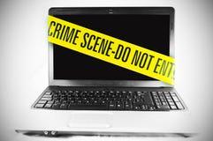 Crime de computador Fotos de Stock Royalty Free