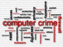 Crime de computador Fotografia de Stock Royalty Free