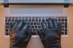 Crime de computador Fotos de Stock