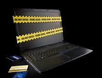 Crime de Cyber Photographie stock