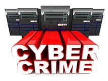 Crime de Cyber Photos stock