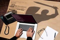 Crime de Cyber Image stock