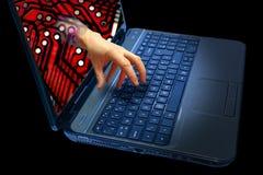Crime de Cyber photos libres de droits