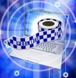 Crime de Cyber d'ordinateur Photos stock