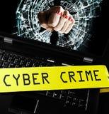 Crime de cyber d'ordinateur photo stock