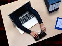 Crime de cyber de pirate informatique Image libre de droits