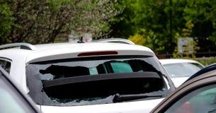 Crime do carro (quebra e garra) Imagem de Stock Royalty Free