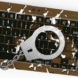 Crime do Cyber Fotografia de Stock