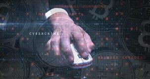 Crime do Cyber que visa o cryptocurrency 4k filme