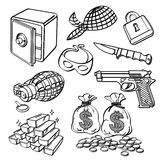 Crime Element Collection Stock Image