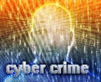 Crime em linha ilustração do vetor
