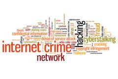 Crime en ligne Image libre de droits