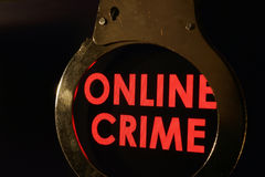 Crime en ligne photo stock