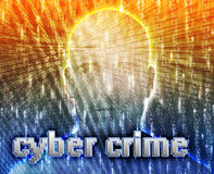 Crime en ligne Photographie stock
